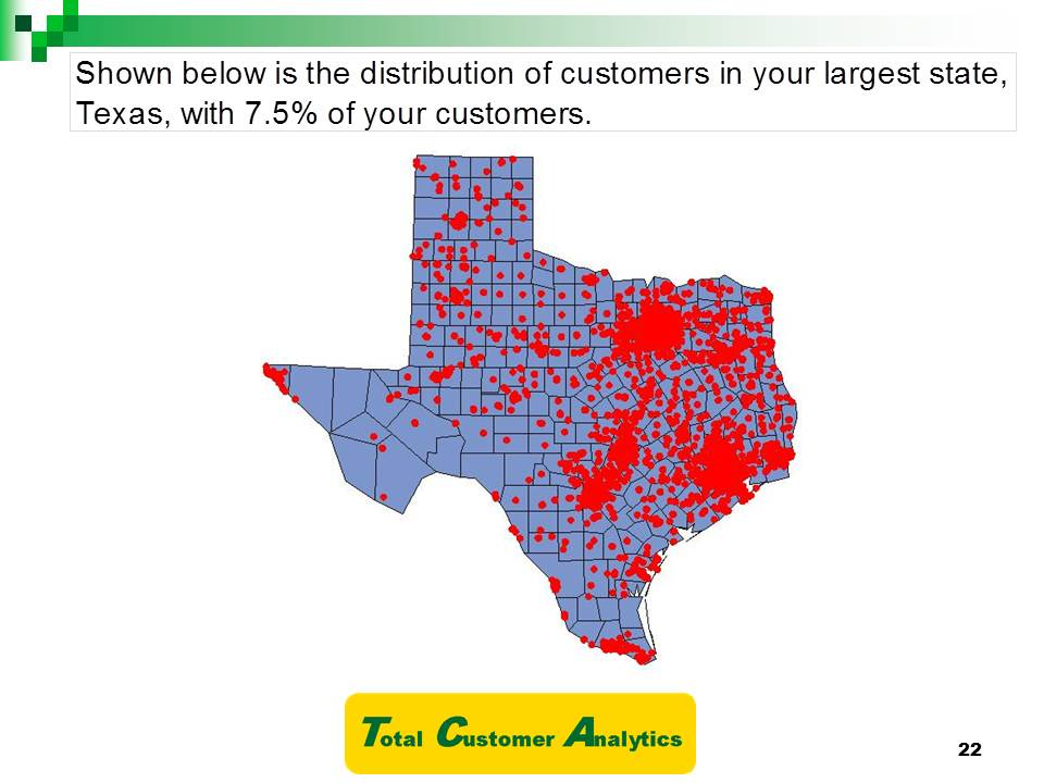 Texas Customers Map Example