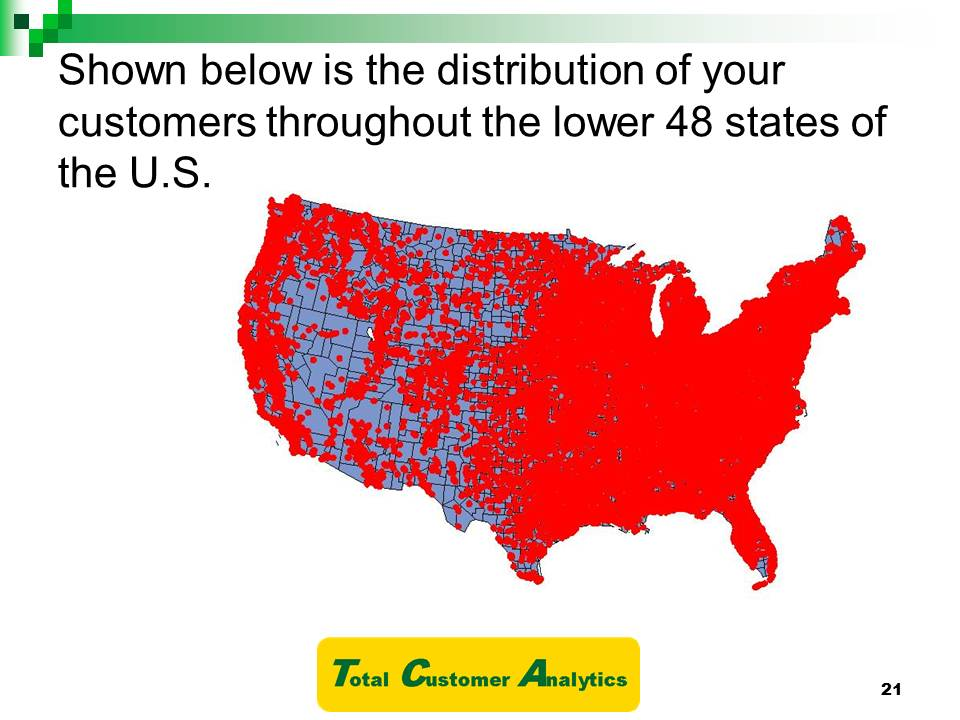 U.S Customers Map Example
